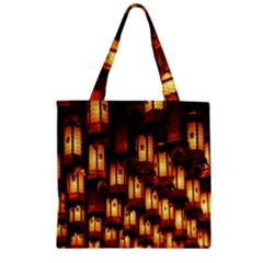 Light Art Pattern Lamp Zipper Grocery Tote Bag