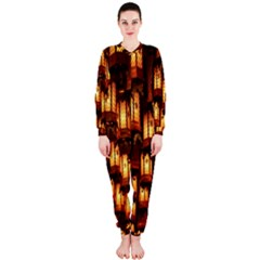 Light Art Pattern Lamp Onepiece Jumpsuit (ladies)