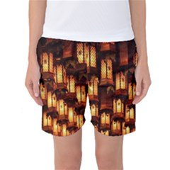 Light Art Pattern Lamp Women s Basketball Shorts