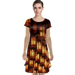 Light Art Pattern Lamp Cap Sleeve Nightdress