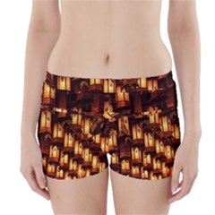 Light Art Pattern Lamp Boyleg Bikini Wrap Bottoms