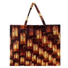 Light Art Pattern Lamp Zipper Large Tote Bag