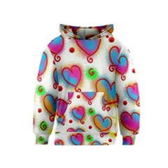 Love Hearts Shapes Doodle Art Kids  Pullover Hoodie