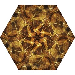 Leaves Autumn Texture Brown Mini Folding Umbrellas