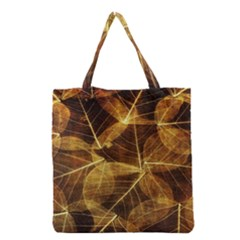 Leaves Autumn Texture Brown Grocery Tote Bag