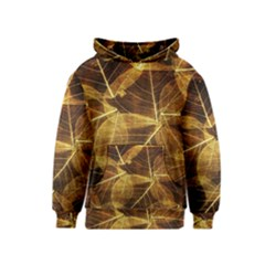 Leaves Autumn Texture Brown Kids  Pullover Hoodie