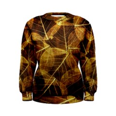 Leaves Autumn Texture Brown Women s Sweatshirt