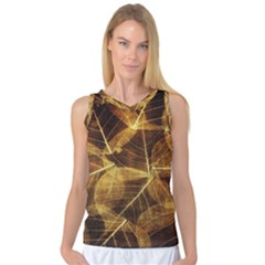 Leaves Autumn Texture Brown Women s Basketball Tank Top