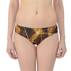 Leaves Autumn Texture Brown Hipster Bikini Bottoms
