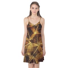 Leaves Autumn Texture Brown Camis Nightgown