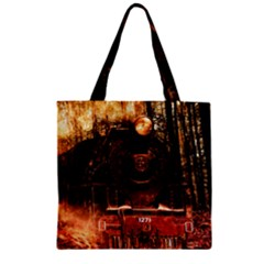 Locomotive Zipper Grocery Tote Bag