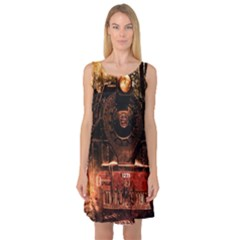 Locomotive Sleeveless Satin Nightdress