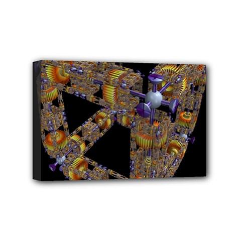 Machine Gear Mechanical Technology Mini Canvas 6  X 4