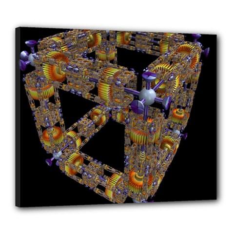 Machine Gear Mechanical Technology Canvas 24  x 20