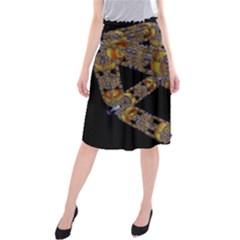 Machine Gear Mechanical Technology Midi Beach Skirt