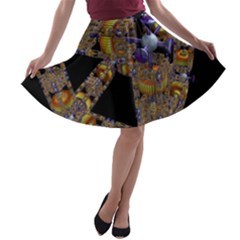 Machine Gear Mechanical Technology A-line Skater Skirt