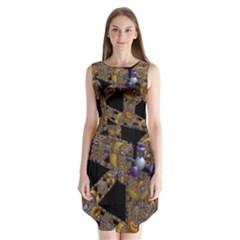 Machine Gear Mechanical Technology Sleeveless Chiffon Dress