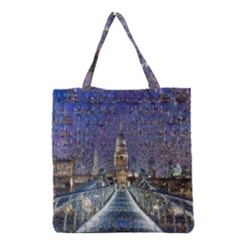 London Travel Grocery Tote Bag