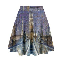 London Travel High Waist Skirt