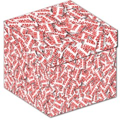 Merry Christmas Xmas Pattern Storage Stool 12