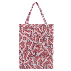 Merry Christmas Xmas Pattern Classic Tote Bag