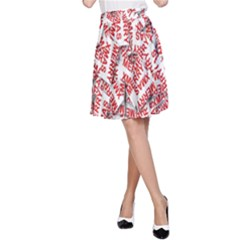 Merry Christmas Xmas Pattern A-Line Skirt