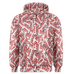 Merry Christmas Xmas Pattern Men s Zipper Hoodie