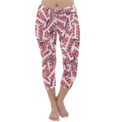 Merry Christmas Xmas Pattern Capri Winter Leggings