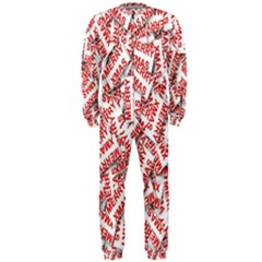 Merry Christmas Xmas Pattern Onepiece Jumpsuit (men)