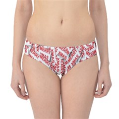 Merry Christmas Xmas Pattern Hipster Bikini Bottoms