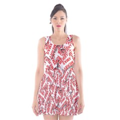Merry Christmas Xmas Pattern Scoop Neck Skater Dress