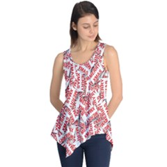 Merry Christmas Xmas Pattern Sleeveless Tunic