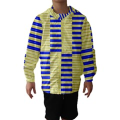 Metallic Gold Texture Hooded Wind Breaker (Kids)