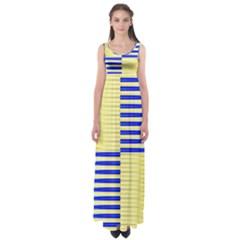 Metallic Gold Texture Empire Waist Maxi Dress