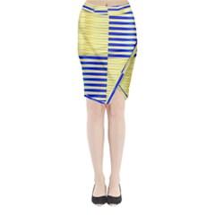 Metallic Gold Texture Midi Wrap Pencil Skirt