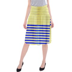 Metallic Gold Texture Midi Beach Skirt
