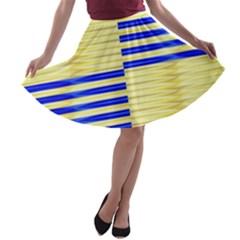Metallic Gold Texture A-line Skater Skirt