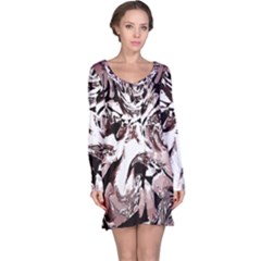 Metal Lighted Background Light Long Sleeve Nightdress