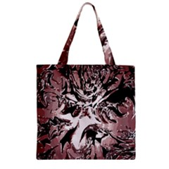 Metal Lighted Background Light Zipper Grocery Tote Bag