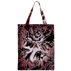 Metal Lighted Background Light Zipper Classic Tote Bag