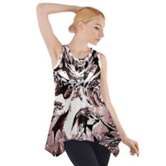 Metal Lighted Background Light Side Drop Tank Tunic