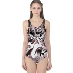 Metal Lighted Background Light One Piece Swimsuit