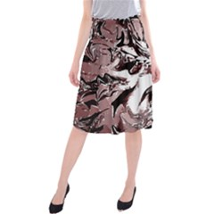 Metal Lighted Background Light Midi Beach Skirt