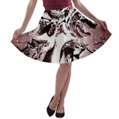 Metal Lighted Background Light A Line Skater Skirt