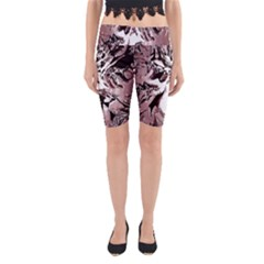 Metal Lighted Background Light Yoga Cropped Leggings