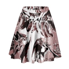 Metal Lighted Background Light High Waist Skirt