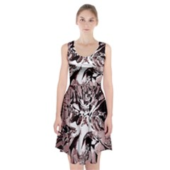 Metal Lighted Background Light Racerback Midi Dress