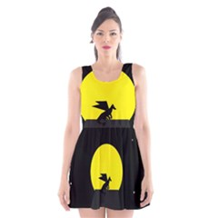 Moon And Dragon Dragon Sky Dragon Scoop Neck Skater Dress