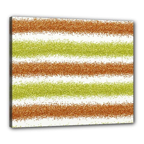 Metallic Gold Glitter Stripes Canvas 24  x 20
