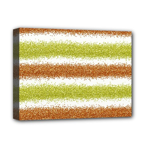 Metallic Gold Glitter Stripes Deluxe Canvas 16  x 12